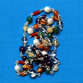 54 Bead Mala Necklace with All the Gemstones Sacred to the 9 Planets