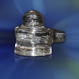 Crystal Siva Lingam - Small Size