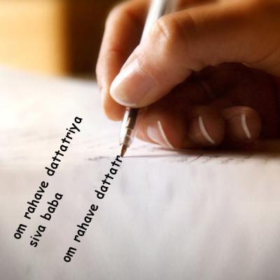 Fix Planet Rahu - Proxy Mantra Writing of OM RAHAVE DATTATRIYA SIVA BABA