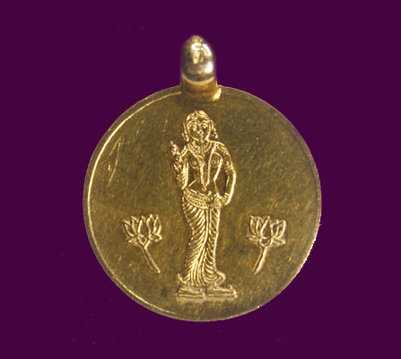 Energized 5 Gm 22 Carat Paralakshmi Gold Pendant