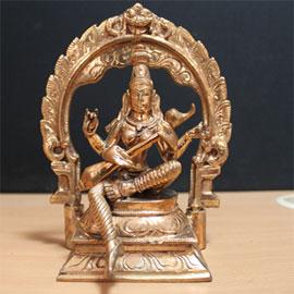 Goddess Saraswathi Statue (6 inch)