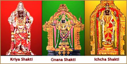 Icha shakti, Kriya shakti and Gnana Shakti